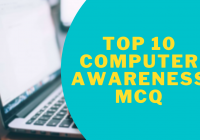Computer Awareness MCQs and Quiz for Banking, IBPS, RRB, RBI, SBI Exams