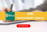 IDBI Bank SO Recruitment 2020-21: Apply Online for 134 Specialist Cadre Officer Posts