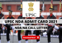 UPSC NDA Admit Card 2021 Out: Check Download Link for NDA NA Call Letter Here, Exam on 18 April