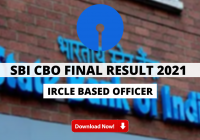 SBI CBO Final Result 2021 Out - Circle Based Officer Final Result Released