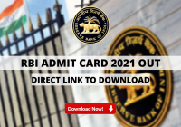 RBI Admit Card 2021 Out: Direct Link To Download Online Exam Hall Ticket