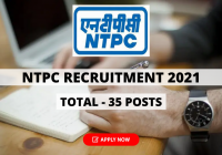 NTPC Recruitment 2021 for 35 Executive, Sr Executive and Specalist Posts, Apply Online