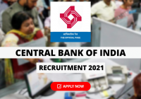Central Bank of India Recruitment 2021 for FLCC Incharge Post, Selection through Interview