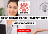 BTSC Bihar Recruitment 2021 for 6338 Vacancies for MO Posts, Apply Online for Specialist & General Medical Officer, Apply Online