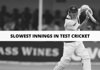 List of players who have played slowest innings in Test Cricket