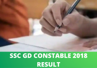 SSC GD Constable 2018 Result