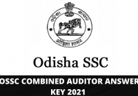 OSSC Combined Auditor Answer Key 2021