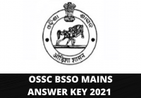 OSSC BSSO Mains Answer Key 2021