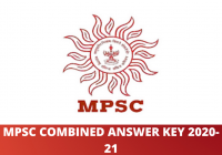 MPSC Combined Answer Key 2020-21